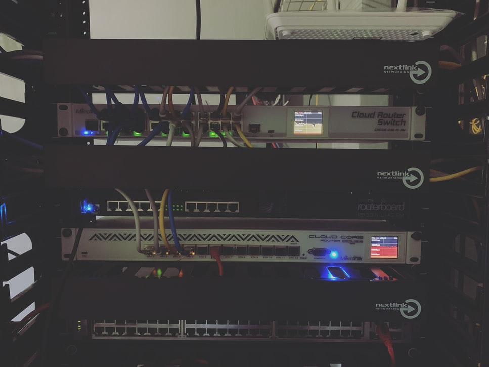 network switches in a rack
