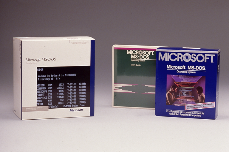 old ms-dos product boxes